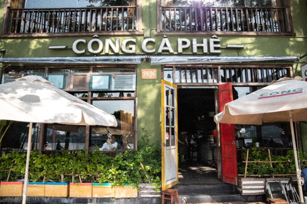 Cong caphe【ダナンカフェ】古いがカッコイイ!!で若者にヒット